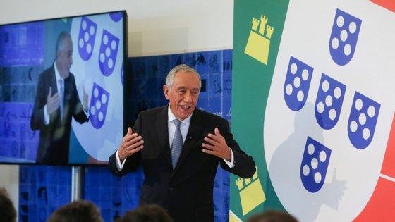 O Presidente da República, Marcelo Rebelo de Sousa, discursa no 6.º Encontro Anual do Conselho da Diáspora Portuguesa, realizado em Cascais