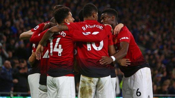 Lingaard bisou, Rashford e Martial marcaram e o United marcou pela primeira vez cinco golos na Premier League desde... Fergson