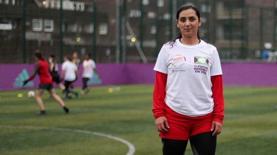 Khalida Popal, antiga capitão da seleção afegã de futebol, tem lutado pelos direitos das mulheres no desporto e fora dele