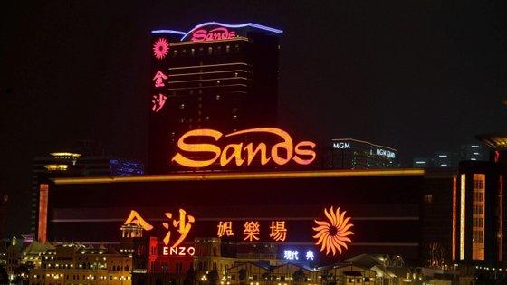 Vista para o casino Sands em Macau