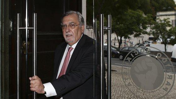 Vitor Ramalho, à chegada à sede do Partido para participar na reunião conjunta do Conselho Coordenador do LIPP - Laboratório de Ideias e Propostas para Portugal, a 9 de outubro de 2014