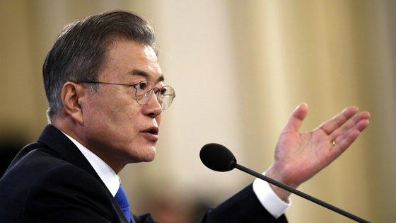 As declarações de Moon Jae-in foram feitas após o regresso do líder norte-coreano de uma viagem de quatro dias a Pequim