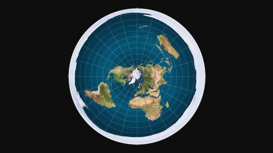 Os terraplanistas defendem que a Terra é um disco com um anel de gelo à volta