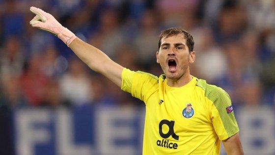 O guarda-redes Iker Casillas, do FC Porto