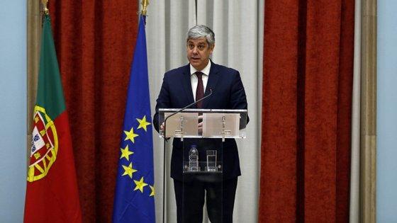 O presidente do Eurogrupo, Mário Centeno falava na celebração do 20.º aniversário da criação do euro,  em Estrasburgo, França