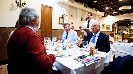 Jantar de despedida de António Costa do programa, em 2014