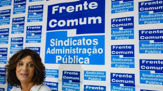 Ana Avoila, coordenadora da Frente Comum, anunciou a greve no final de um plenário realizado esta terça-feira em Lisboa