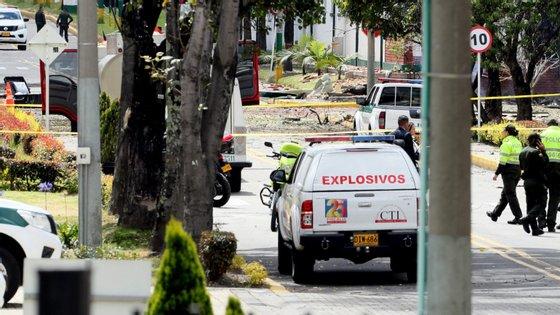 O governo colombiano está a tomar este incidente como um ato terrorista