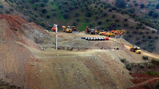 Faltam escavar apenas 4 metros no túnel horizontal para chegar ao poço original
