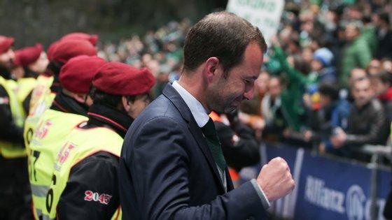 Frederico Varandas conseguiu o primeiro título no futebol como presidente do Sporting, depois de ter sido eleito em setembro