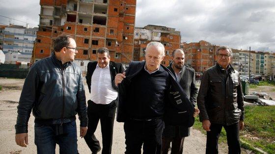 João Malheiro acompanhou a visita de Santana Lopes ao bairro da Jamaica