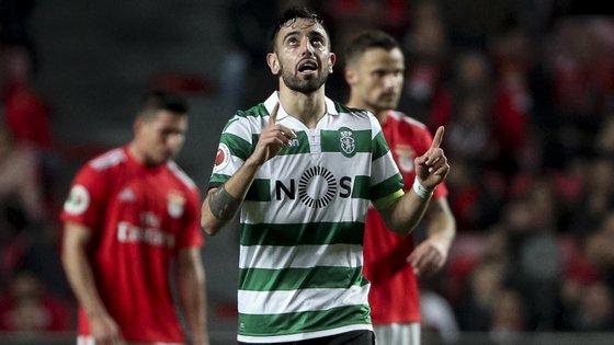 Bruno Fernandes foi o único jogador a marcar nos dois dérbis realizados nos últimos quatro dias entre Benfica e Sporting