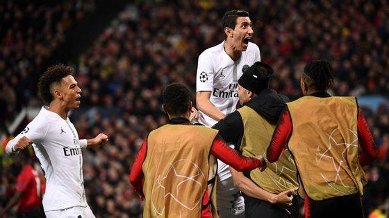 Di María voltou a Old Trafford, onde jogou em 2014/15 sem nunca convencer administração e adeptos do Manchester United