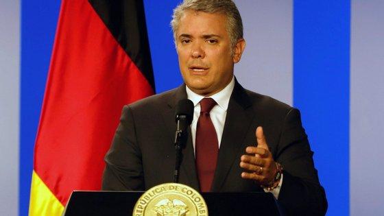 """O Presidente da Colômbia, Ivan Duque, diz que """"23 de fevereiro tem de ser o dia em que todos se mobilizam e dizem à ditadura"""