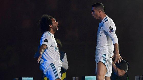 Juntos, Marcelo e Cristiano Ronaldo conquistaram quatro Ligas dos Campeões no Real Madrid