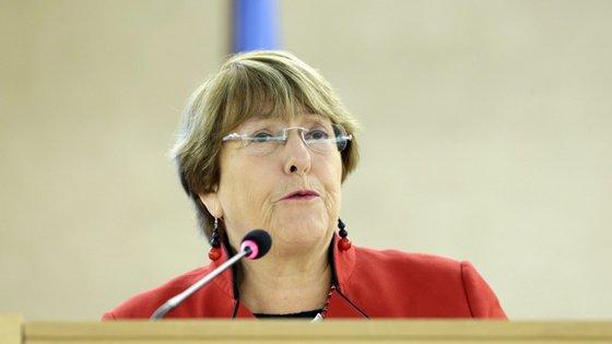 Alta Comissária das Nações Unidas para os Direitos Humanos, Michelle Bachelet. Foto: EPA/SALVATORE DI NOLFI