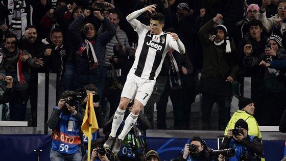 A celebração habitual veio apenas no terceiro golo da Juventus frente ao Atl. Madrid: a reviravolta na eliminatória estava consumada