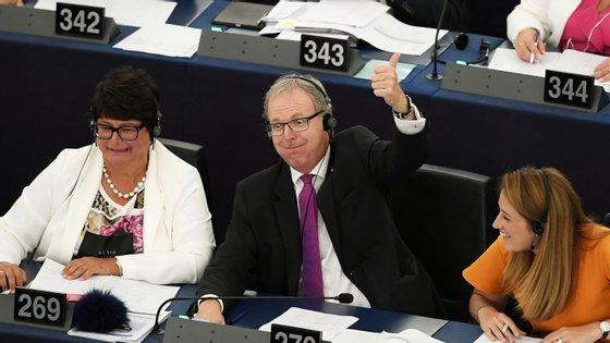 Em setembro de 2018, Axel Voss, o eurodeputado do partido popular europeu que encabeçou a proposta da nova diretiva, festejou desta forma a aprovação