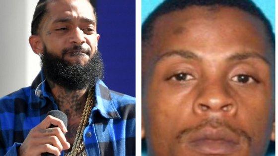 À esquerda, o rapper baleado mortalmente. À direita o suspeito de ter disparado