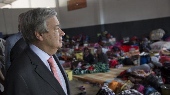 António Guterres pediu uma solução negociada para o conflito