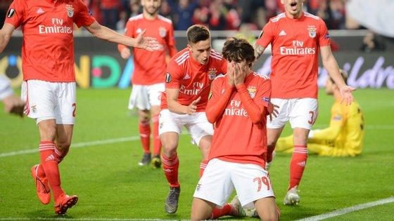 O avançado não conteve as lágrimas quando marcou o terceiro golo