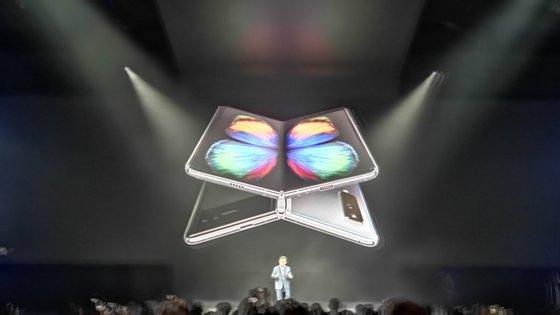 O Galaxy Fold foi divulgado em São Francisco, na Califórnia, em fevereiro
