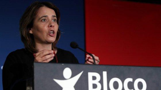 Catarina Martins falou numa sessão pública sobre o Serviço Nacional de Saúde