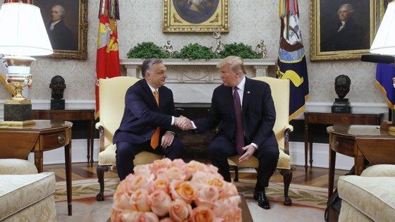 O encontro entre os dois governantes ocorreu duas semanas antes das eleições europeias
