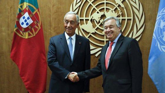 """De acordo com o chefe de Estado, o secretário-geral das Nações Unidas é """"um exemplo e uma demonstração do que Portugal tem de melhor"""""""