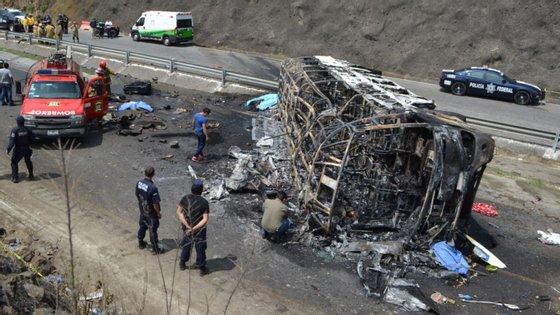 O autocarro transportava fiéis da igreja católica do Estado de Chiapas