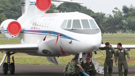 Chegou esta manhã ao aeroporto do Príncipe um avião C-130 e um Falcon