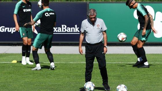 O selecionador Fernando Santos teve à sua disposição todos os 23 jogadores convocados,
