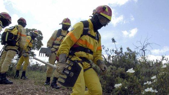 Três bombeiros sofreram ferimentos ligeiros quando combatiam as chamas.