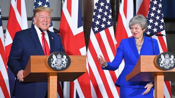 Esta terça-feira Donald Trump cumpre o segundo de três dias da sua visita de Estado ao Reino Unido