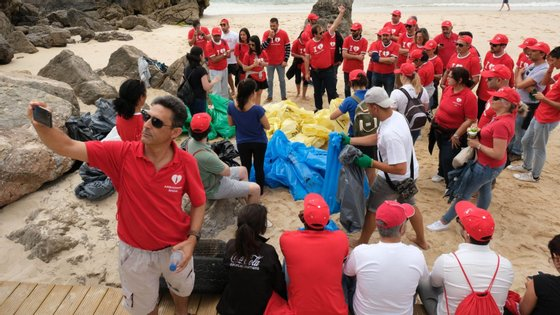 Os participantes admitiram que ficaram surpreendidos com a quantidade de lixo encontrada