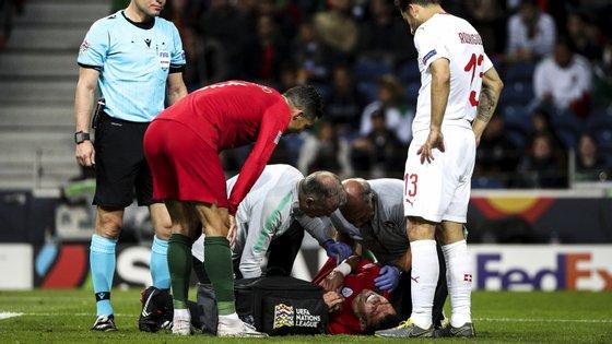 Pepe lesionou-se na segunda parte da meia-final da Liga das Nações com a Suíça, pedindo de imediato a substituição