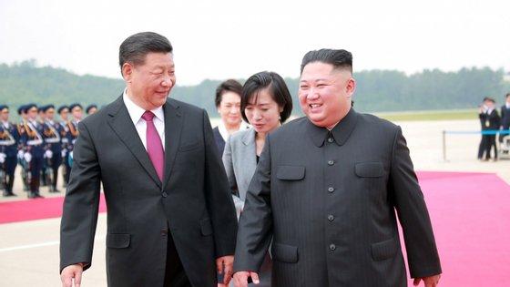 Tratou-se da primeira visita de um chefe de Estado chinês à Coreia do Norte, em 14 anos