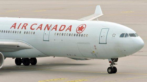 Air Canada reconheceu o incidente, mas não quis comentar os procedimentos de desembarque
