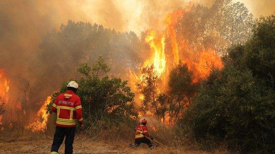Esta quinta-feira de manhã estavam 350 bombeiros no local e sete meios aéreos a combater o incêndio