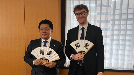 Paddy Cosgrave esteve reunido esta semana com Takuya Hirai, à margem da reunião do G20, em Tóquio