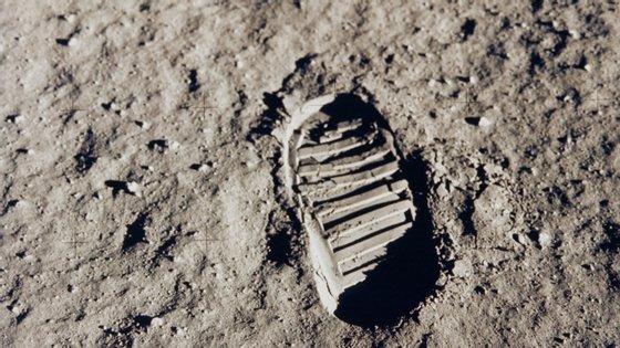 Pegada do astronauta Neil Armstrong na Lua, em 1958, pela missão Apolo 11
