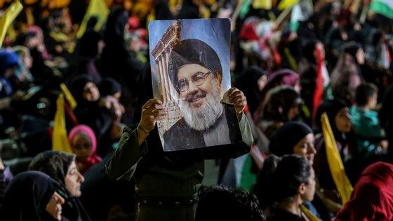 """""""O Irão tem a capacidade de bombardear Israel com força e ferocidade"""", afirmou Nasrallah."""