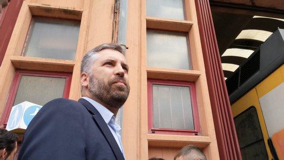 Pedro Nuno Santos visitou a antiga oficina de manutenção em Guifões, Matosinhos
