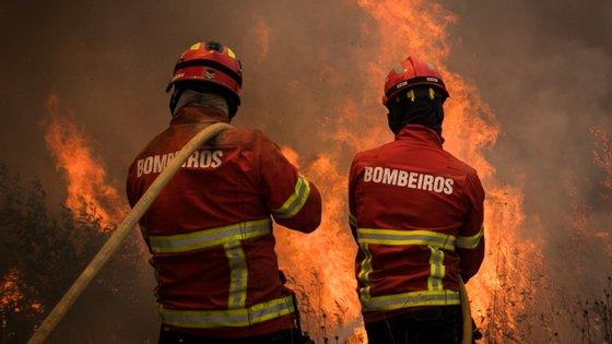 Estão a combater as chamas 259 bombeiros, apoiados por 75 veículos