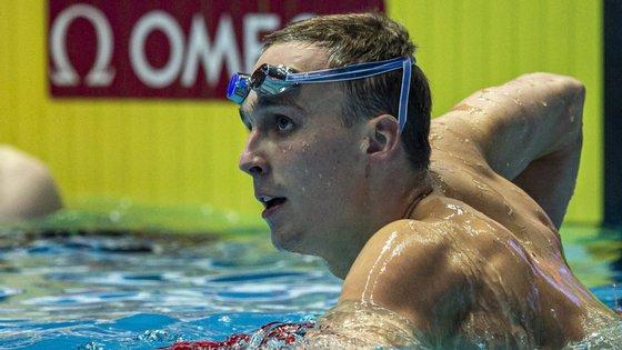 O nadador revalidou o título mundial dos 200 metros bruços e impôs-se a Wilson e Watanabe, segundo e terceiro classificados