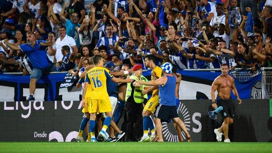 Marcano marcou o golo decisivo aos 90+8' e lançou a confusão nas bancadas entre a euforia pelos festejos de mais uma vitória