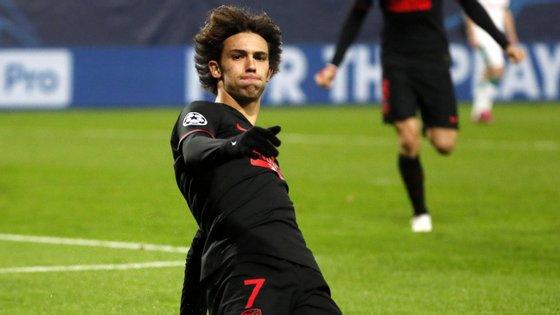 Aos 19 anos, o jogador português tornou-se o mais novo de sempre a marcar pelo Atl. Madrid na Liga dos Campeões