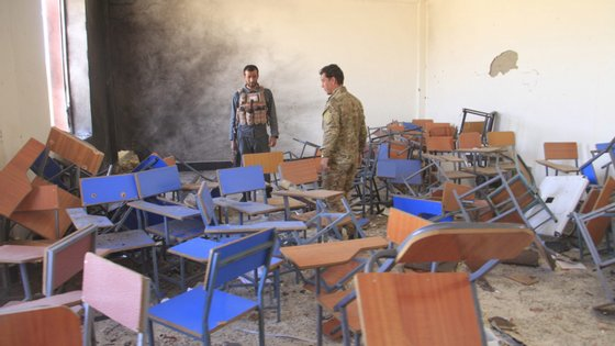 A explosão ocorreu por volta das 9h40, horário local (6h10 em Lisboa), enquanto decorria uma aula na Faculdade de Literatura da Universidade de Ghazni