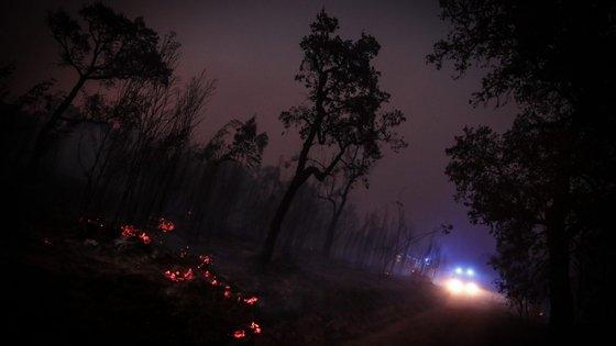 O incêndio na freguesia de São Francisco da Serra, no concelho de Santiago do Cacém, tinha deflagrado na quinta-feira