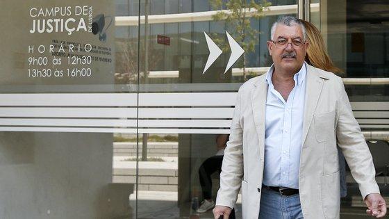 O ex-comandante à saída do 1.ª Secção Criminal do Campus de Justiça onde ouviu a leitura do acórdão, em julho de 2015
